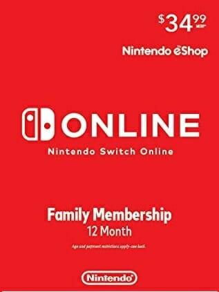 Nintendo Switch Online Family Membership 12 Month - Nintendo Switch [Digital US Code]
